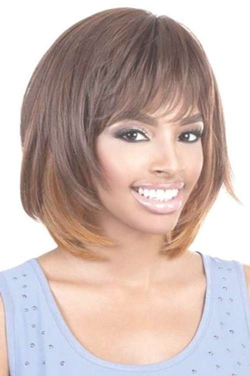 10 Layered Bob Hairstyles For Black Women | Short Hairstyles Inside Layered Bob Haircuts With Bangs (View 15 of 15)