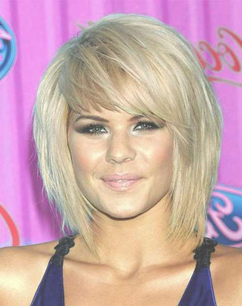 10 Short Haircuts For Straight Thick Hair | Short Hairstyles 2016 Regarding Bob Haircuts With Bangs For Thick Hair (View 8 of 15)