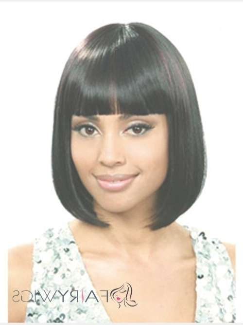 11 Gorgeous Bob Hairstyles For Black Women With Regard To Black Bob Haircuts With Bangs (View 11 of 15)
