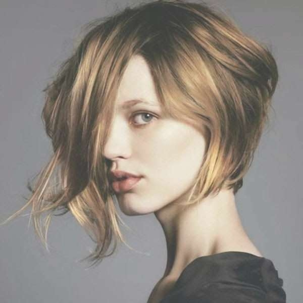 12 Fabulous Short Haircuts For Round Faces – Pretty Designs In Punk Bob Haircuts (View 6 of 15)