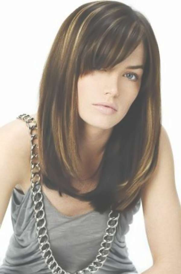 12 Long Haircuts With Bangs | Learn Haircuts Inside Long Layered Bob Haircuts With Bangs (View 6 of 15)