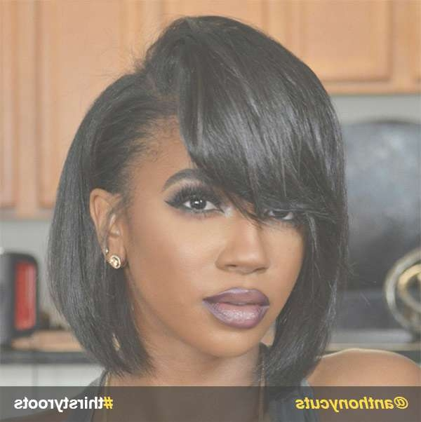 12 Stunning Haircuts For Black Women – Thirsty Roots Black Hair With Bob Hairstyles With Bangs For Black Women (View 14 of 15)