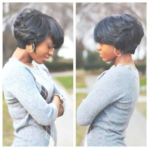 13 Fabulous Short Bob Hairstyles For Black Women | Women Short Intended For Short Bob Hairstyles For African American Hair (View 7 of 15)