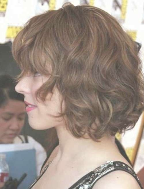 Displaying Photos Of Short Bob Hairstyles For Thick Wavy Hair View