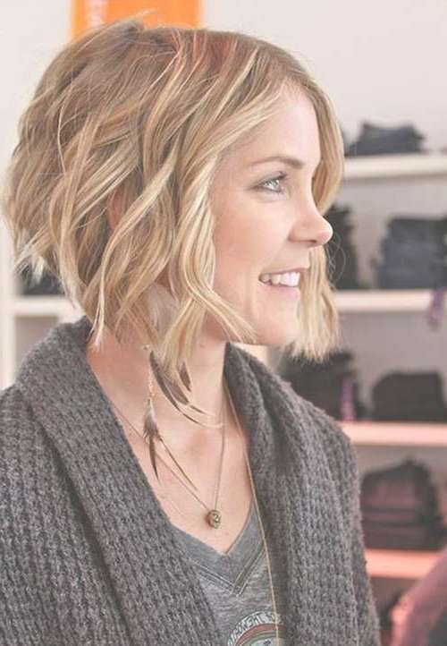 15 Bob Haircuts For Thick Wavy Hair | Bob Hairstyles 2017 – Short Inside Bob Haircuts For Wavy Thick Hair (View 3 of 15)
