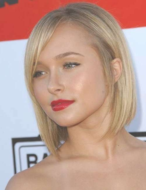 15 Hayden Panettiere Bob Haircuts | Bob Hairstyles 2017 – Short With Cute Bob Haircuts With Side Bangs (View 7 of 15)