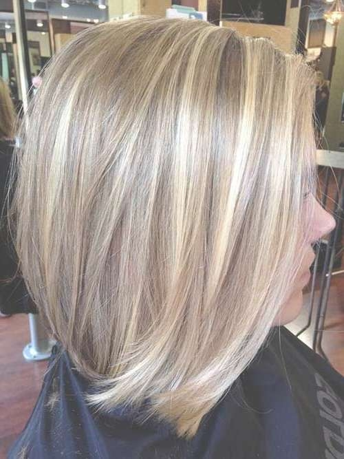 Showing Gallery Of Bob Hairstyles With Blonde Highlights View 3 Of