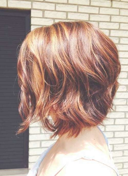 Showing Gallery Of Bob Haircuts With Red Highlights View 3 Of 15