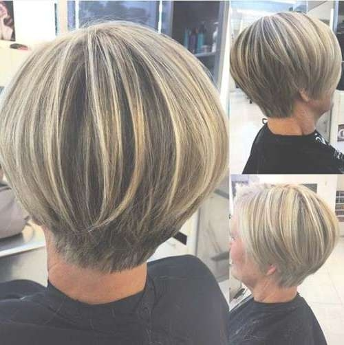 Showing Gallery Of Short Layered Bob Haircuts For Thick Hair View 1