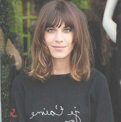 15 Trendy Long Bob Hairstyles – Crazyforus Intended For Long Bob Haircuts With Bangs (View 13 of 15)