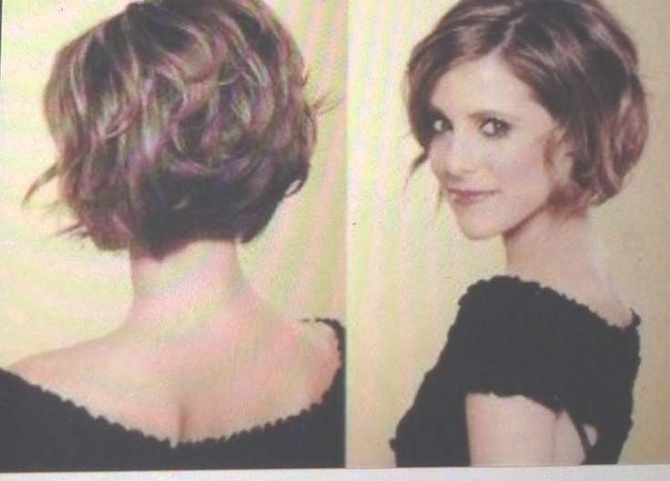16 Best Cortés De Cabello 2014 Images On Pinterest | Makeup With Regard To Short Bob Hairstyles For Thick Wavy Hair (View 7 of 15)