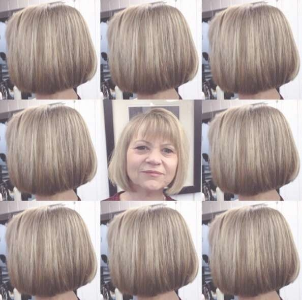 18 Beautiful Short Hairstyles For Round Faces 2016 – Pretty Designs Within Bob Haircuts For Over (View 9 of 15)