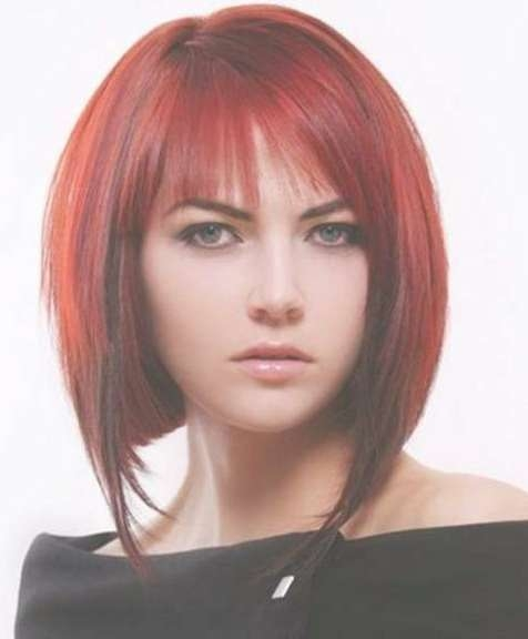 20 Angled Bob Haircuts Inside Bob Haircuts With Red Highlights (View 15 of 15)