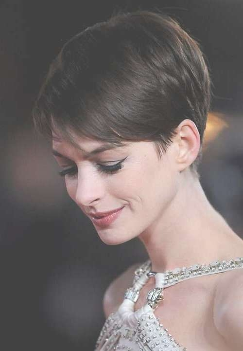 20 Best Anne Hathaway Pixie Cuts | Short Hairstyles 2016 – 2017 For Anne Hathaway Bob Haircuts (View 15 of 15)