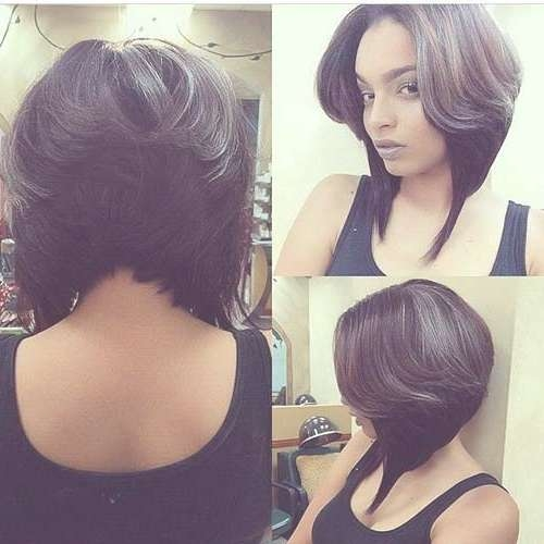 Displaying Gallery Of Layered Bob Haircuts For Black Women View 7