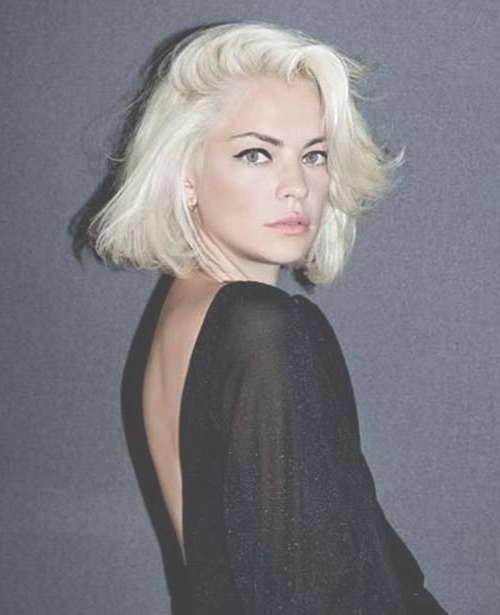 20 Best Short Bleached Blonde Hair | Short Hairstyles 2016 – 2017 With Regard To Bleach Blonde Bob Hairstyles (View 2 of 15)