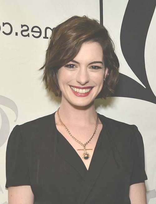 20 Celebrity Bob Hairstyles | Short Hairstyles 2016 – 2017 | Most With Regard To Anne Hathaway Bob Haircuts (View 5 of 15)