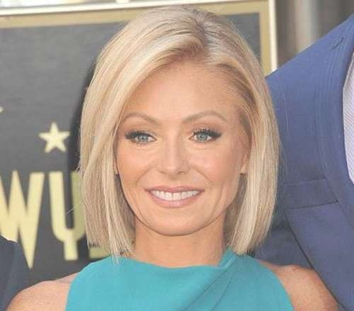 20 Chic Celebrity Short Hairstyles – Crazyforus With Kelly Ripa Bob Hairstyles (View 2 of 15)