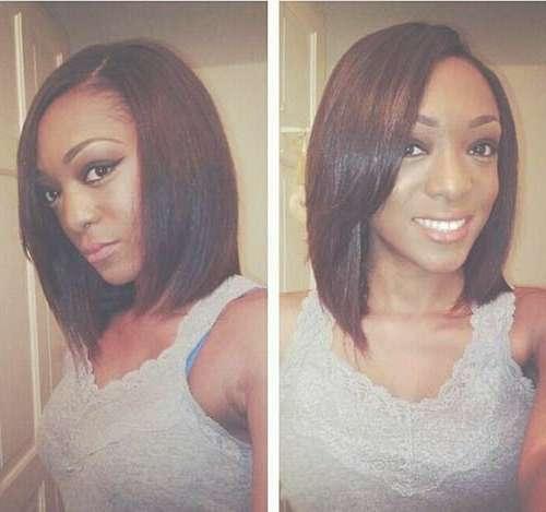 20 Cute Bob Hairstyles For Black Women | Short Hairstyles 2016 For Long Bob Haircuts For Black Women (View 4 of 15)