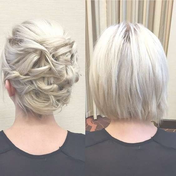 20 Gorgeous Prom Hairstyle Designs For Short Hair: Prom Hairstyles Intended For Bob Hairstyles Updo Styles (View 6 of 15)