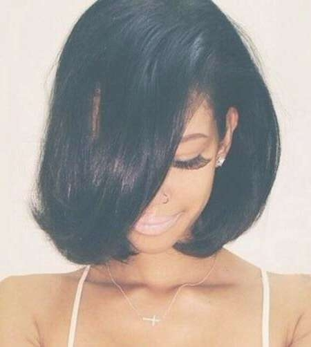 20 Short Bob Hairstyles For Black Women | Short Hairstyles 2016 Inside Layered Bob Haircuts For Black Hair (View 3 of 15)