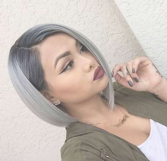 20 Trendy Gray Hairstyles – Gray Hair Trend & Balayage Hair Pertaining To Gray Bob Haircuts (View 2 of 15)