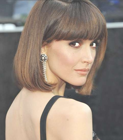 2014 Hairstyle Ideas: Chic Bob Hairstyle With Blunt Bangs For For Bob Haircuts For Thick Hair With Bangs (View 8 of 15)