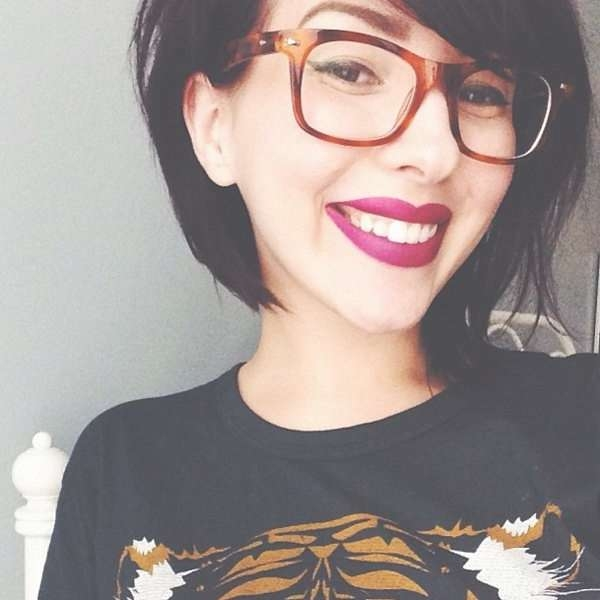 203 Best Glasses Hairstyles I Love :) <3 Images On Pinterest Inside Bob Haircuts And Glasses (View 13 of 15)