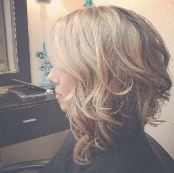 21 Stacked Bob Hairstyles You'll Want To Copy Now   Medium Curly Regarding Shoulder Length Curly Bob Haircuts (View 3 of 15)
