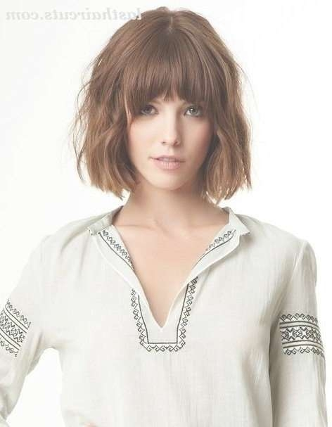 215 Best Hair Color/cuts Images On Pinterest | Plaits, Hairstyle Regarding Bob Haircuts With Bangs For Long Faces (View 12 of 15)