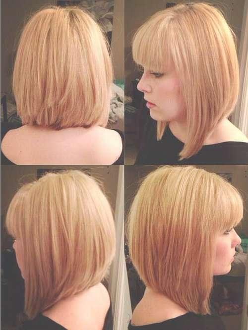 22 Superb Long Bob Haircuts With Fringe – Wodip Throughout Medium Length Bob Haircuts With Bangs (View 12 of 15)