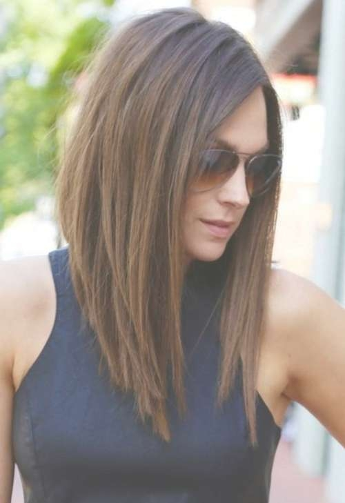 24 Best Long Bob Haircuts & Hairstyles (Updated For 2018) Pertaining To Brunette Long Bob Haircuts (View 6 of 15)