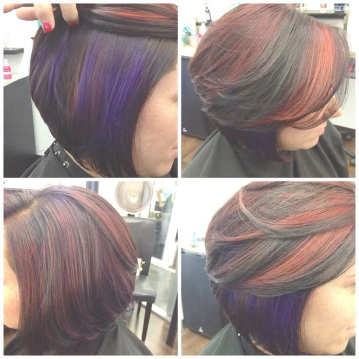 24 Best Seester's Art!! Images On Pinterest   Salons, Hair Ideas In Bob Haircuts With Red Highlights (View 8 of 15)