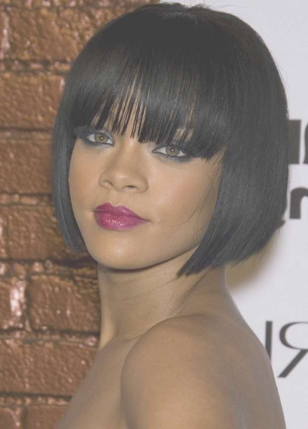 15 Photos African American Bob Haircuts With Bangs
