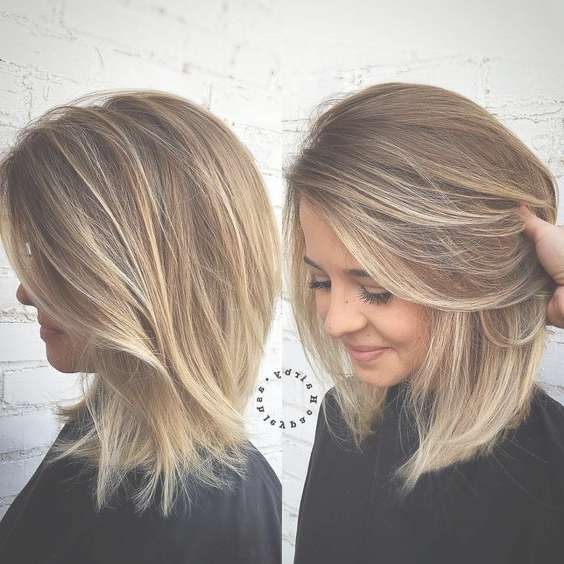 25 Cute Easy Hairstyles For Medium Length Hair | On Haircuts Within Cute Shoulder Length Bob Hairstyles (View 5 of 15)