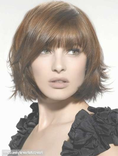 25 Short Bob Haircut Styles With Bangs & Layers For Girls & Women Pertaining To Bob Haircuts With Bangs And Layers (View 14 of 15)