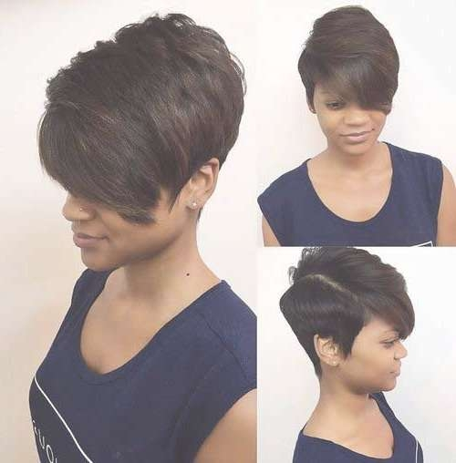 25 Short Bob Hairstyles For Black Women | Bob Hairstyles 2017 Inside Layered Bob Haircuts For Black Women (View 12 of 15)