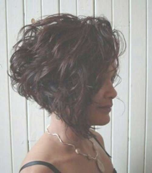 30 Short Haircuts For Curly Hair 2015 – 2016 | Short Hairstyles Throughout Inverted Bob Haircuts For Curly Hair (View 4 of 15)