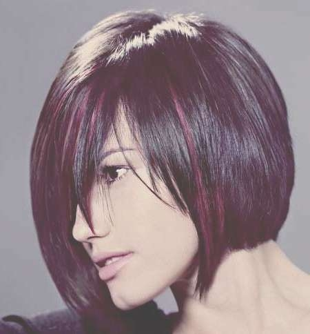Explore Gallery Of Bob Haircuts With Red Highlights Showing 13 Of