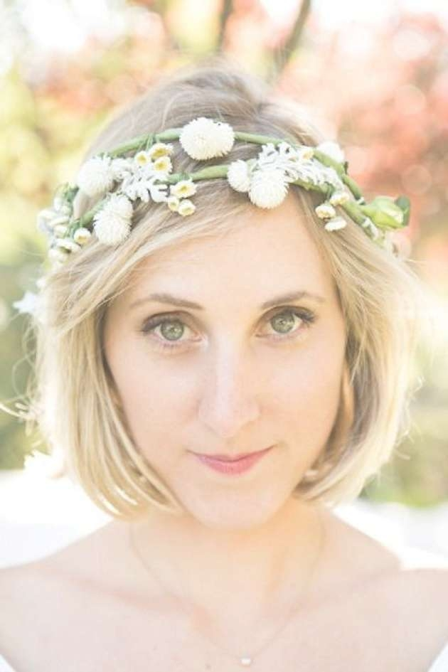 30 Ways To Style Short Hair For Your Wedding   Bridal Musings For Wedding Updos For Bob Haircuts (View 14 of 15)
