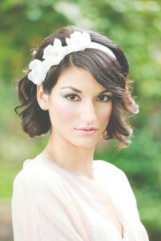 30 Ways To Style Short Hair For Your Wedding   Bridal Musings Throughout Wedding Updos For Bob Haircuts (View 12 of 15)