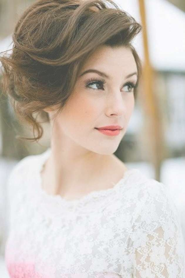 30 Ways To Style Short Hair For Your Wedding   Bridal Musings With Regard To Wedding Updos For Bob Haircuts (View 6 of 15)
