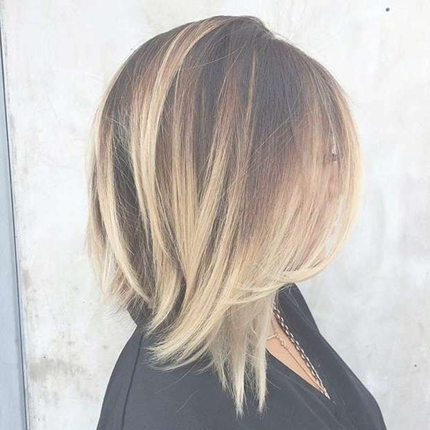 31 Best Shoulder Length Bob Hairstyles | Stayglam Within Medium Length Bob Haircuts (View 6 of 15)