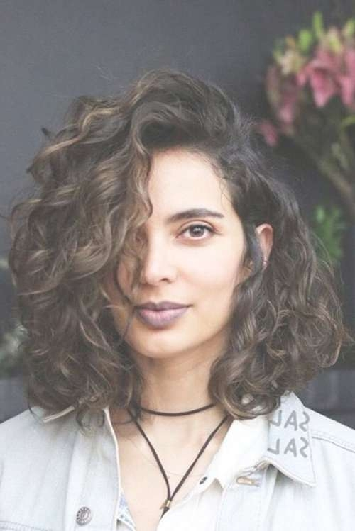32 Cutest Curly Bob Hairstyles & Haircuts For Women In 2018 Regarding Long Bob Hairstyles For Curly Hair (View 3 of 15)