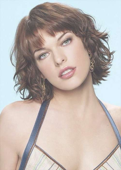 33 Lovely Short Bob Hairstyles With Bangs – Cool & Trendy Short Intended For Short Curly Bob Haircuts With Bangs (View 12 of 15)