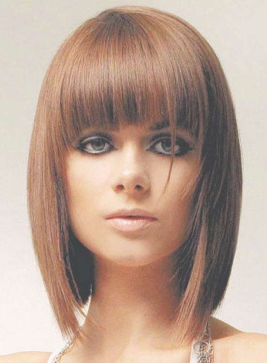 35 Awesome Bob Haircuts With Bangs – Makes You Truly Stylish Inside Medium Bob Hairstyles With Bangs (View 8 of 15)