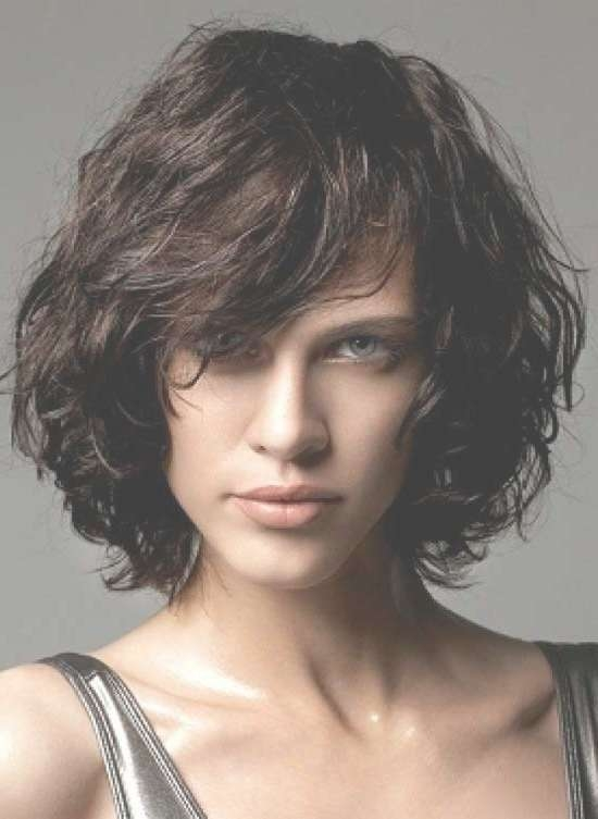 35 Awesome Bob Haircuts With Bangs – Makes You Truly Stylish Throughout Curly Bob Haircuts With Bangs (View 12 of 15)