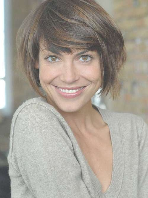 35 Cute Short Brown Hairstyles – Cool & Trendy Short Hairstyles 2017 For Short Brown Bob Haircuts (View 4 of 15)