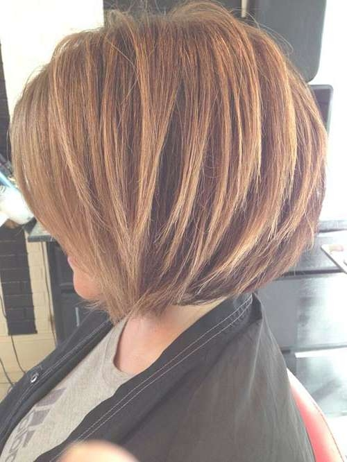 35 Short Stacked Bob Hairstyles | Short Hairstyles 2016 – 2017 Throughout Blonde Highlights For Bob Haircuts (View 8 of 15)
