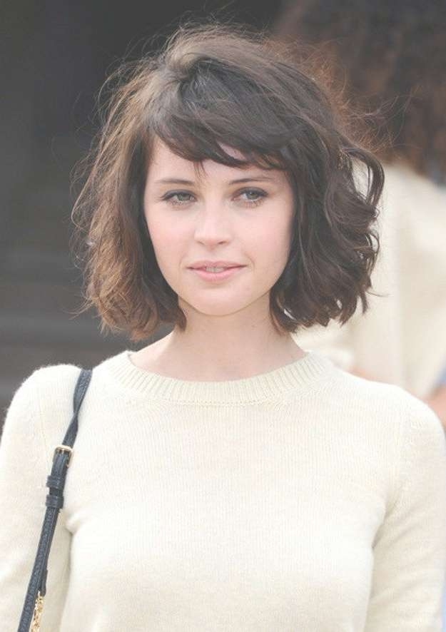 36 Best Hairstyles Images On Pinterest | Hair, Make Up And Artists Pertaining To Curly Bob Haircuts With Bangs (View 6 of 15)